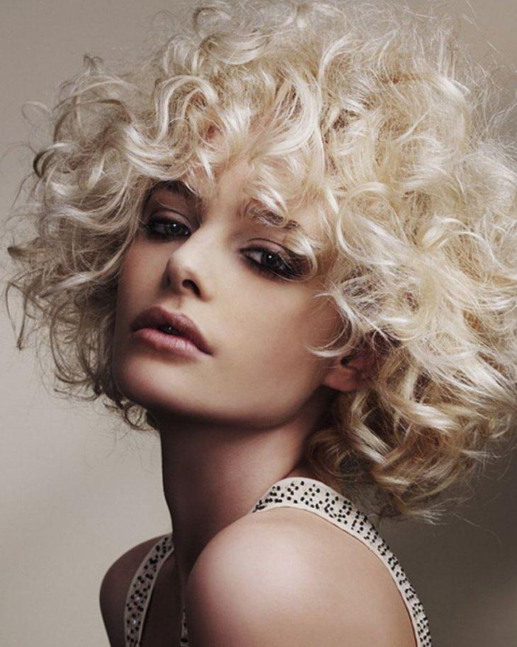 Картинки кудрявые укладки волос