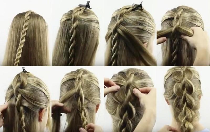 научиться поэтапно плести косы фото бульон