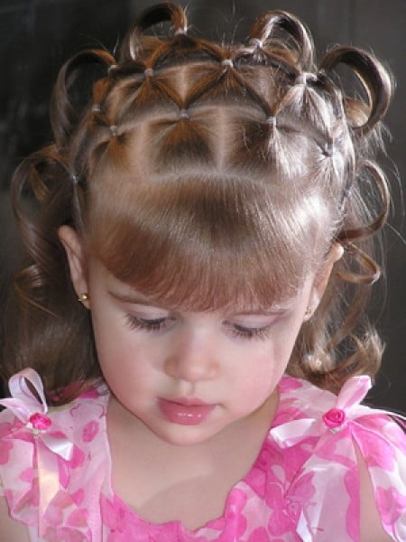 Cute Little Girl Hairstyles for School with Bangs