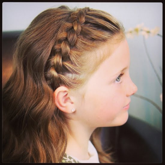 Little Girl Braided Long Hairstyles for School