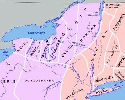 Map of Iroquois territory