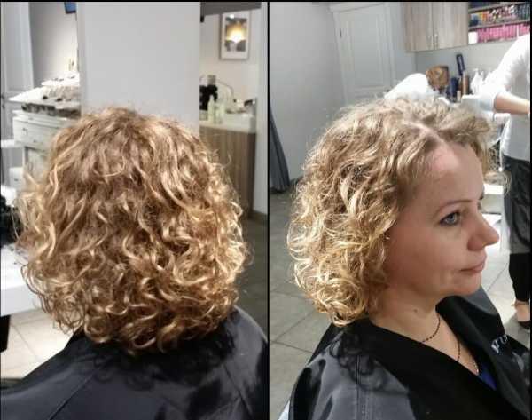 Химия на короткие волосы, фото до и после, виды химической завивки   473x600