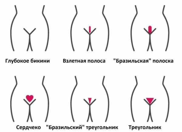 Эротические стрижки женских лобков
