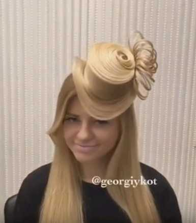 Прическа шляпка из волос девушки сколько вы были без работы