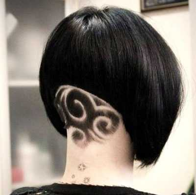 Женские стрижки на короткие волосы с рисунком